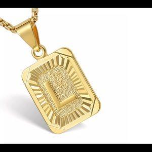 """Gold Filled Letter L Pendant 18"""" Long Neck…"""